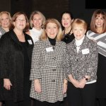 Committee members: (front) Digi Schueler, event co-chair Marty Humes and Karlee Hilliard; (back) event co-chair Amelia Crutcher, Patti Myers, Cathy Hogan, program co-chairs Ronna Willis and Linda Greenberg, and Charlin Briggs