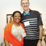 Honoree Billi Ewing, a brain tumor patient, with 2015 honoree and brain tumor patient Ken Jacques