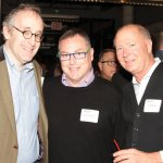 Playhouse Pride committee members Freeman Durham and Dean Clevenger with contributing sponsor Jeff Thomas