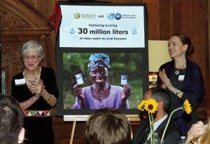 Dr. Victoria Wells Wulsin, founder of SOTENI International and SOTENI Kenya, with Allison Tummon Kamphuis of the P&G Children's Safe Drinking Water Program