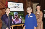 Randie Marsh, executive director of SOTENI International; Allison Tummon Kamphuis of the P&G Children's Safe Drinking Water Program; and Dr. Alexandra Amick Vrazo, vice chair of SOTENI's board