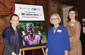 Randie Marsh, executive director of SOTENI International; Allison Tummon Kamphuis of the P&G Children's Safe Drinking Water Program; and Dr. Alexandra Amick Vrazo, vice chair of SOTENI's board