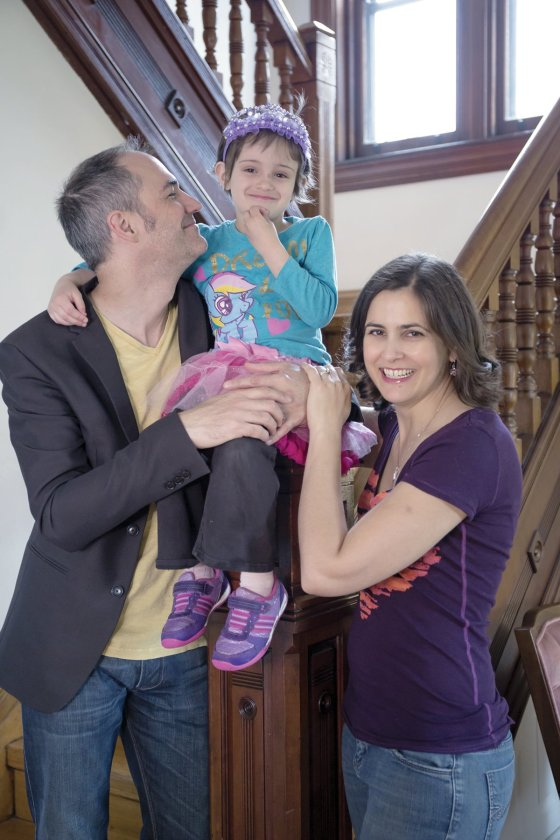 Marcus Küchle and Annalisa Pappano with their daughter, Claudia