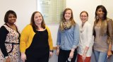 McClain Scholars: Audrey Dumas, Amy Blesser, Emily McCracken, Chasity Rush, and Renee Phelia