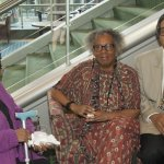 Artist Velma Morris with Pamela and Lennell Myricks