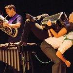 C. Neil Parsons, euphonium; Hilary Abigana, accordion; Greg Jukes, under (Freddie Kelvin Photography)