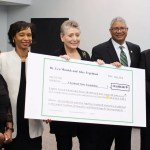 Janice Lockett, nursing program chair; Dr. Monica Posey, Cincinnati State interim president; Barbara Gould, Cincinnati State Foundation; Mark Walton, chair, Cincinnati State board of trustees; and Dr. Joseph Sandman, director of major gifts, Cincinnati State Development Office