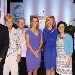 Mark Kleespies, Jane Hoffman, Barb Momper, keynote speaker Laura Ingraham, emcee Mary Massa, Elaine Parker and Angela Homm