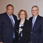 Dr. O'dell Owens with Julie Scheper and Chuck Scheper