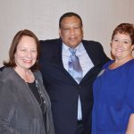 Laurie Leonard, Dr. O'dell Owens and Valerie Landell