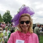 """Eileen Barrett bought her hat in Naples, Florida, while with a friend who was chairing a """"hats"""" event in Central Park. """"I am doubtful she had the guts to wear the one she picked out."""""""