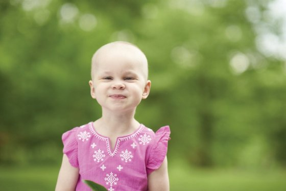 Maddie, a cancer survivor, is one of this year's Cincinnati Walks for Kids Champions.