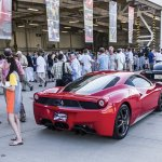 Ferrari and guests at Hangar Party