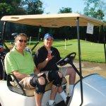 Howard Schwartz and Bob Brant, vice president of the JCC board