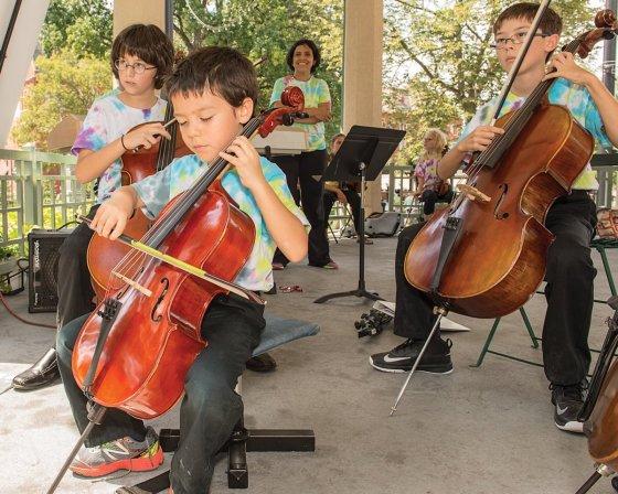 Peraza Music Workshop students Benjamin Watras, Elliott Watras and Ari Webb