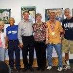 Ken Clark, Audrey Barbian, Dick Barbian, Lin Weikert, Mary Weikert, Dick Mushaben, Michael Flynn and Janine Gauthier