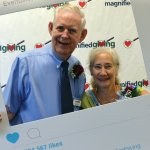 Roger Grein, founder of Magnified Giving, and donor Joyce Kupfer-Mulderig