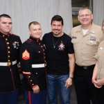 Marine Sgt. Craig Palmer, Marine Sgt. Christopher Carey, Kris Paronto, Navy gunner's mate Chris Dennison and Navy communications specialist Heidi McCormick