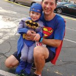 Jake Wieland as Superman and his own Batman