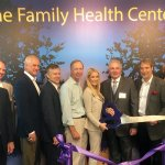 Mary Ronan, superintendent of Cincinnati Public Schools; Jim Schwab, Interact for Health; John Banchy, CEO of The Children's Home of Cincinnati; board members Dr. Rob Heidt, John Campbell and Michael Coombe; Meghan Levine; Ed Levine; board members Larry Glassman, Joe Dominiak and Tony Parlin; and Dr. Vel Karacostas