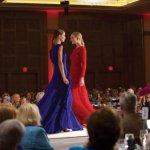 The show featured Escada dresses.