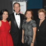 Norma Rashid; Mike Keating, president and CEO, The Christ Hospital Health Network; Vickie Buyniski Gluckman; and Debbie Hayes, vice president and COO, Christ network