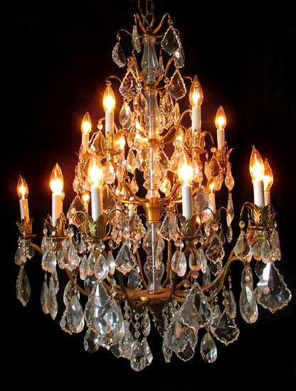 Chandeliers, ranging from $450 to $6,000