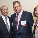 Jamie Dimon, Dave Herche and Peggy Zink