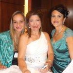 Gala organizers Nelisa Luz, Sara Obando Rischbeck and Monica Perdomo