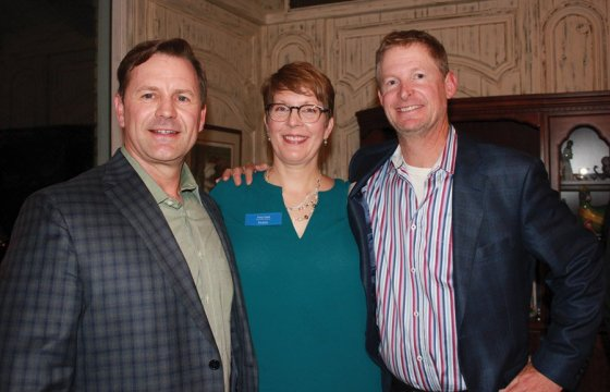 John Hands, ProKids board president-elect; Tracy Cook, ProKids executive director; and Chip Turner, board member