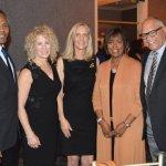 John Simmons, Carol Goodman, Rebecca Bugos, and Marcia and Jim Anderson