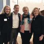 Jill Meyer, CEO of the Cincinnati USA Regional Chamber; Tim Elsbrock, Fifth Third Bank market president and ArtsWave Campaign chair; Melanie Healey, retired Procter & Gamble executive; and Alecia Kintner, president and CEO of ArtsWave