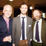 Mercantile executive director John Faherty, board member Ben Greenberg and author David Coggins
