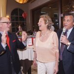 Mary McGraw with Stepping Stones executive director Chris Adams and board president John Mongelluzzo