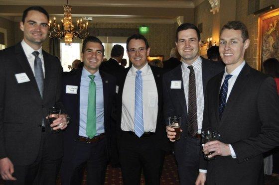 Young Exec team members Austin Kummer, Christopher Rueve, Rob Haddenhorst, Eric Quinn and Matt Jackson
