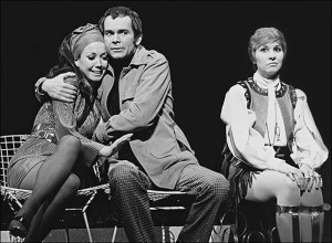 """Pamela Myers (right) in Sondheim's """"Company"""" with Donna McKechnie and Dean Jones"""