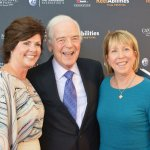 Festival co-chair Jenny McCloy, festival VIP Nick Clooney, festival co-chair Kim Vincent