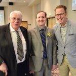 Milton Mains, award winner Dave Schroeder and Jordan Huizenga