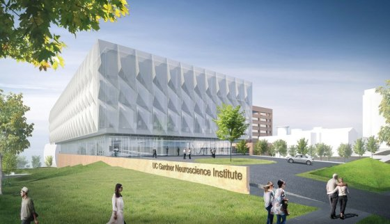 Architectural rendering of the new building, created by global architecture firm Perkins+Will