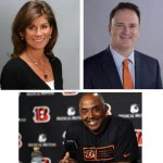 Kristy Voytek enlisted Bengals coach Marvin Lewis, FC Cincinnati's Jeff Berding and the Reds' Karen Forgus to speak at a fundraiser Thursday for the Leukemia and Lymphoma Society's Man and Woman of the Year competition. She's one of the 12 candidates.