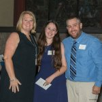 Tricia Raby of Beech Acres, with Respite Award honorees Cassie and Carl Siders