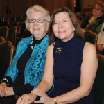 Martha Seaman, Cincinnati Flower Show co-founder, with Jeane Elliott, CHS board member