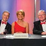 Celebrity judges Doug Bruckner, Jennifer Kinsley and Terry Foster