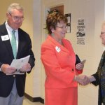 Bob and Diane Hauser, with school President Sister Jeanne Bessette