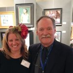 Rene Brinson, founder of the Lovis Foundation, and John Michael Carter, president of Oil Painters of America