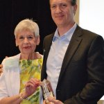 Inter Parish Ministry CEO Lindsey Ein with honoree Erick Harback