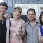 Bob Enderle; Sue Willis, Cincinnati Concours executive director; Klaus Ramberg; and Amy Ramberg