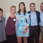 JDRF southwestern Ohio executive director Melissa Newman (center) and JDRF CEO Derek Rapp (second from right) with staff