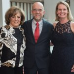 Honorary gala chair Karen Abel, Beacon honoree Bob Mecum and gala chair Dr. Kate Bennett