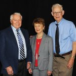 Honorees Jack and Carol Adam with Roger Grein of Magnified Giving Credit: Paula Norton